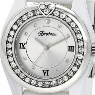 Brighton Watches: Silver/White Brighton Women's Dana Point Watch