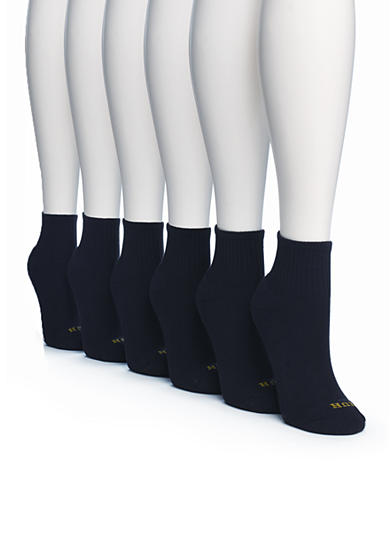 HUE® 6 Pack Mini Crew Socks