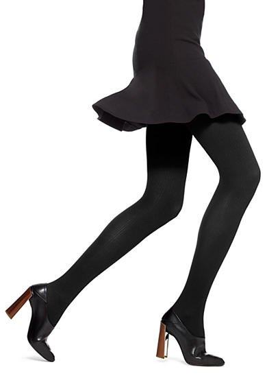HUE® Classic Rib with Control Top Tights