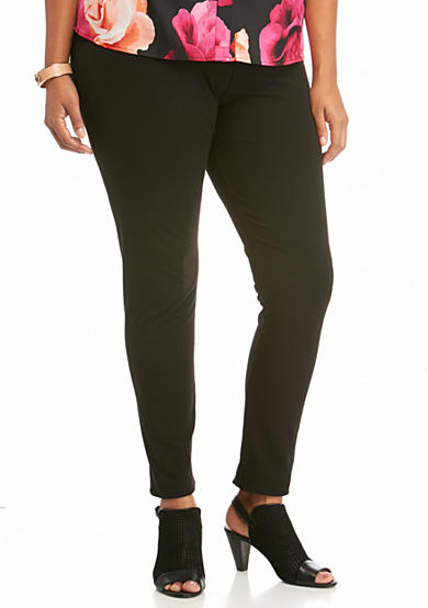 HUE® Plus Size Ultra Leggings with Wide Waistband
