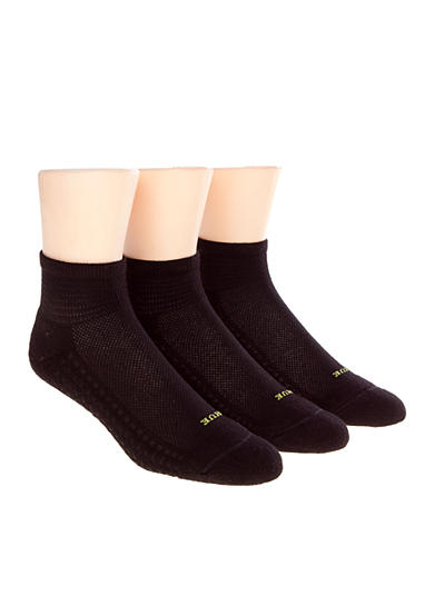HUE® Air Cushion Quarter Top Socks 3-Pack
