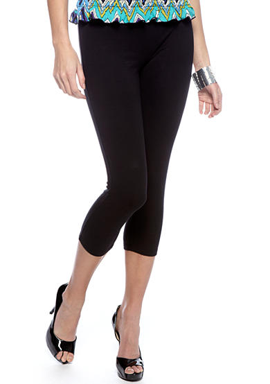 HUE® Plus Size Cotton Capri Length Legging