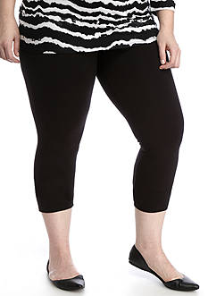 HUE® Plus Size Temp Control Capri Leggings
