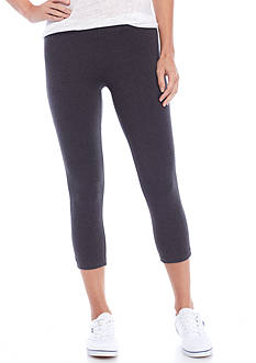 HUE Cotton Capri Leggings