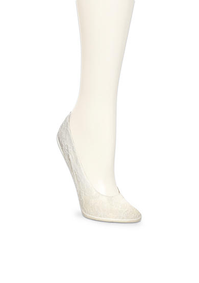 HUE® Lace Perfect Edge Liner Socks