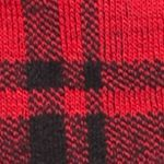 Sale: Hue: Red Hot Plaid HUE Femme Top Sock- Single Pair