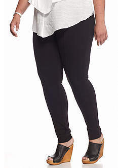 HUE Plus Size Blackout Leggings