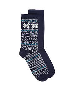 HUE Fairisle Tipped Boot Socks - Single Pair