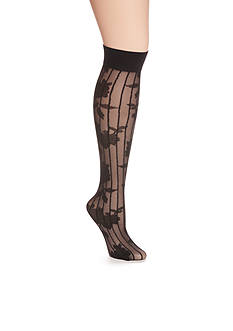 HUE® Petite Floral Knee High Socks - Single Pair