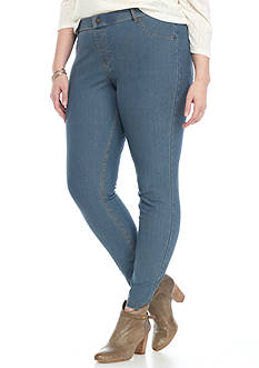 HUE Plus Size Essential Denim Leggings