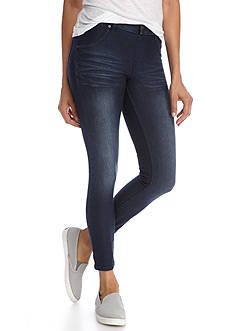 HUE® Faded Essential Denim Skimmer Leggings