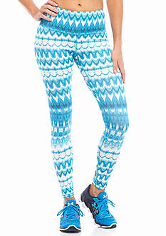 HUE® Ikat Active Capri Leggings