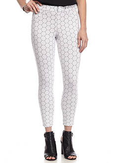 HUE Illusion Eyelet Capri Leggings
