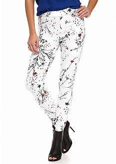HUE® Floral Curvy Denim Leggings