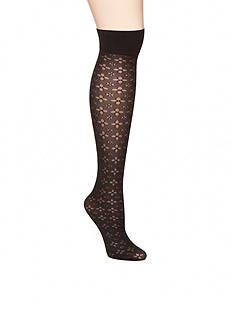 HUE® Spring Eyelet Knee High Socks - Single