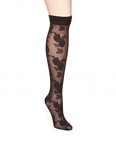HUE® Rose Mesh Knee High Socks - Single Pair