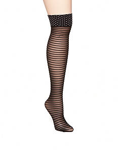 HUE® Dot Top Ruffled Knee High Socks - Single Pair