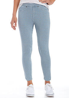 HUE Gingham Capri Leggings