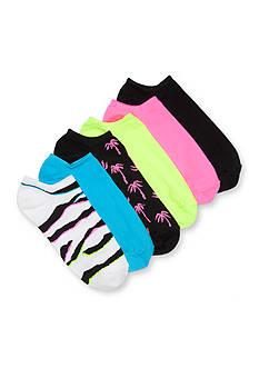 HUE Microfiber Liner Socks -6 Pack