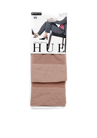 HUE® 2-Pair Pack Sheer Knee High Stockings