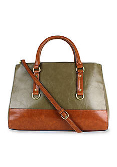 New Directions® Kilely Two Tone Satchel