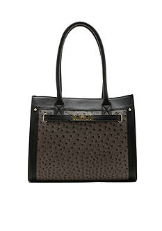 New Directions Elaina Ostrich Tote