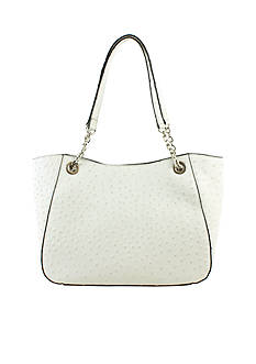 New Directions® White Ostrich Layla Chain Shopper