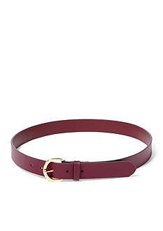 Lauren Ralph Lauren Milford Textured Leather Belt