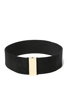 Lauren Ralph Lauren Gold-Tone Elastic Waist Belt