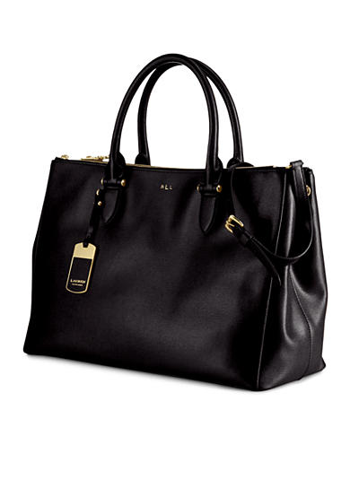 Lauren Ralph Lauren Newbury Double-Zip Satchel<br>