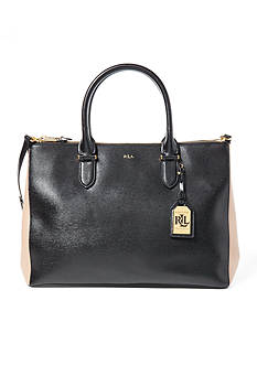 Lauren Ralph Lauren Newbury Double-Zip Satchel Bag