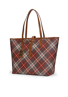 Lauren Ralph Lauren Crawley Plaid Unlined Tote