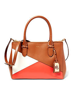 Lauren Ralph Lauren Newbury Color-Blocked Double-Zip Shopper