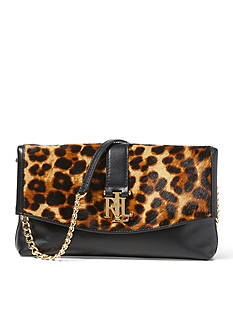 Ralph Lauren Carrington Leopard Barb Clutch