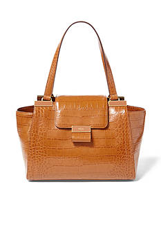 Lauren Ralph Lauren Lynwood Medium Croc Shopper