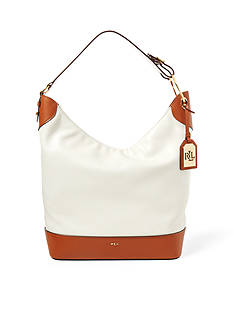 Lauren Ralph Lauren Carissa Leather Hobo Bag