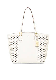 Lauren Ralph Lauren Diamond-Perforated Tanner Tote