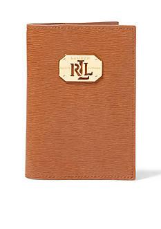 Ralph Lauren Saffiano Leather Passport Case