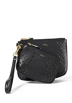 Lauren Ralph Lauren Lauderdale Leather Wristlet