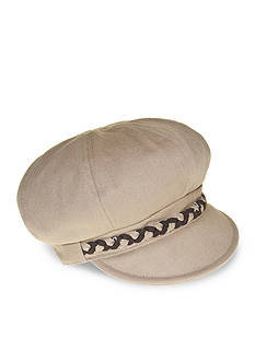 Nine West Feminine Basic Braided Canvas Newsgirl Hat