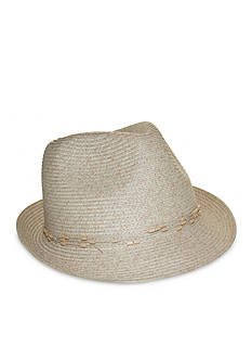 Nine West Feminine Minimalist Beaded Packable Fedora