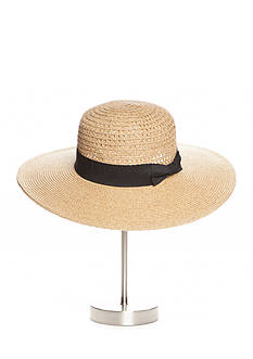 Nine West Feminine And Classic Packable Boater Hat