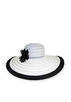 Nine West Packable Super Floppy Flower Hat