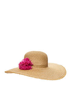Nine West Packable Fringe Edge Super Floppy Hat