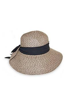 Nine West Feminine Packable Tweed Floppy With Scarf Hat
