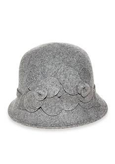 Nine West Felt Cloche With Flower Hat