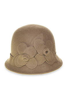 Nine West Felt Cloche With Flower Hat