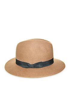 Nine West Felt Flat Brim Fedora Hat