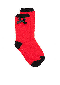 New Directions Solid Sparkle Crew Socks - Single Pair