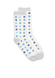 New Directions Multi-Dot Crew Sock - Single Pair
